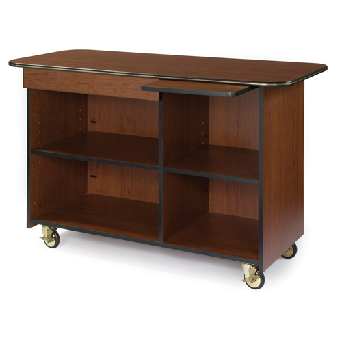 Geneva-Enclosed-Service-Cart-Drawer-Pull-Out-Shelf-Pewter-Brush Product Image 852