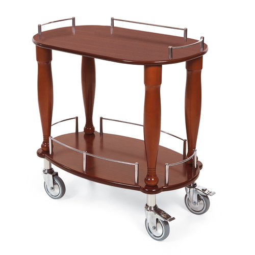 Geneva-Serving-Cart-Oval-Shaped-Top-Shelf Product Image 1243