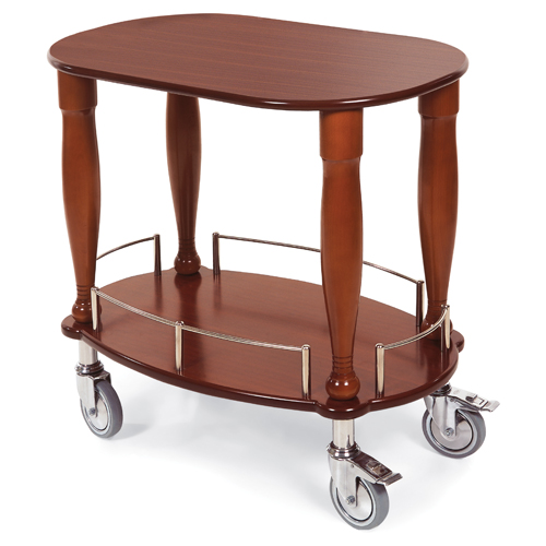 Geneva Bordeau Gueridon Serving Cart Oval Shaped Top Shelf Product Photo