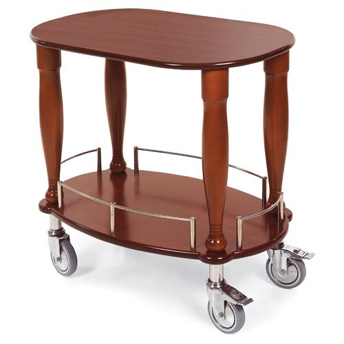 Geneva Bordeaugueridon Serving Cart Oval Shaped Top Shelf Product Photo