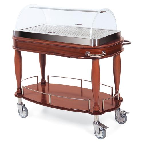 Geneva-Bordeau-Entree-Cart-Oval-Shelf Product Image 667