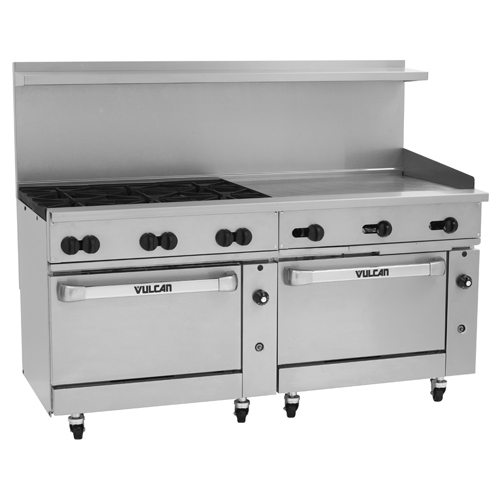 Vulcan Endurance Gas Range Burners Griddle Propane Gas Product Photo
