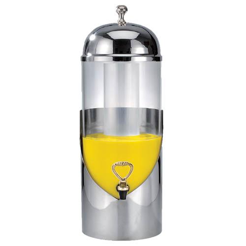 Eastern Tabletop Stainless Steel Round Beverage Dispenser - 3 Gal