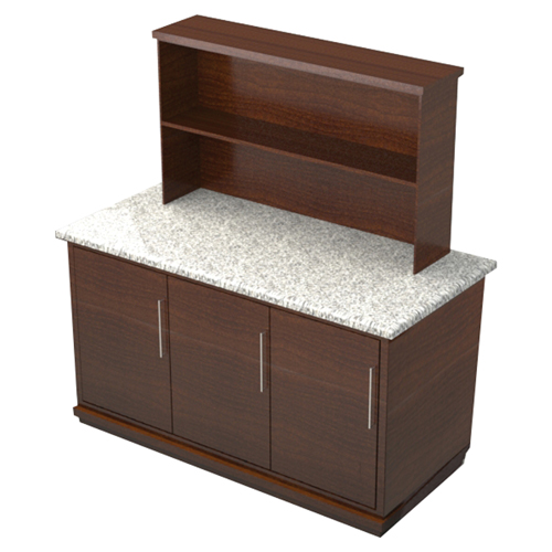 Geneva Wood Portable Back Bar Golden Pecan Product Photo