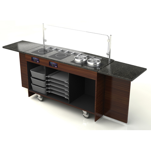 Select Geneva Deluxe Induction Cart Antique Product Photo
