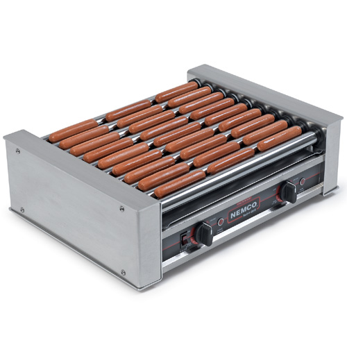Magnificent Nemco Roller Grill Chrome Rollers Hog Dogs Product Photo