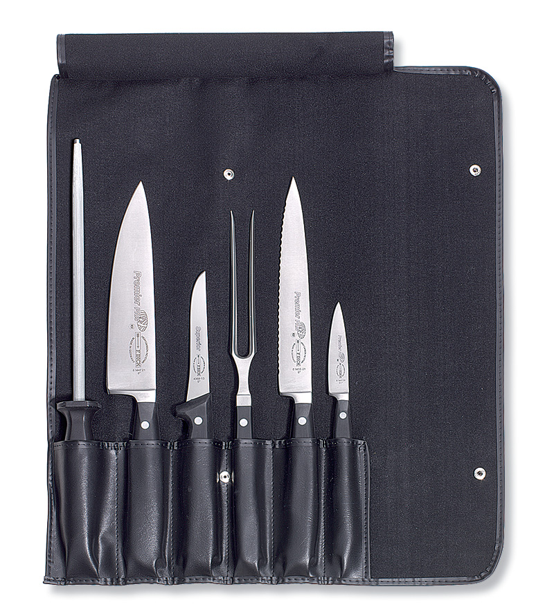 f dick 6 piece professional knife set with roll bag ebay. Black Bedroom Furniture Sets. Home Design Ideas