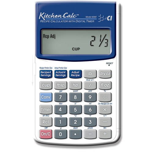 Calculated Industries Kitchen Calculator Hand Held with Digital Timer