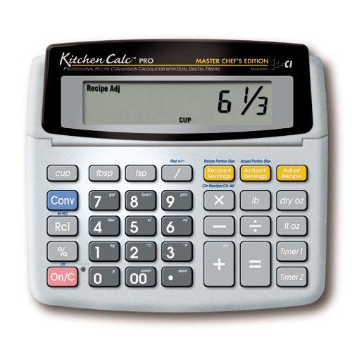 Calculated Industries Kitchen Calculator Desktop with Digital Timer