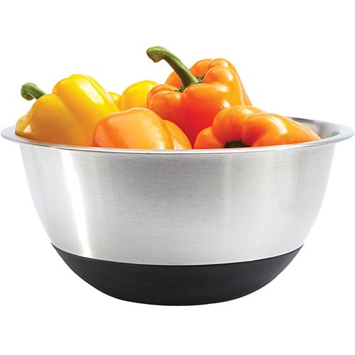 Amco Stainless Mixing Bowl w/Silicone Bottom -