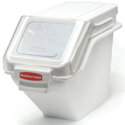 Rubbermaid FG9G5700WHT 100 Cup Safety Ingredient Storage Bin with 2 Cup Scoop FG9G5700WHT