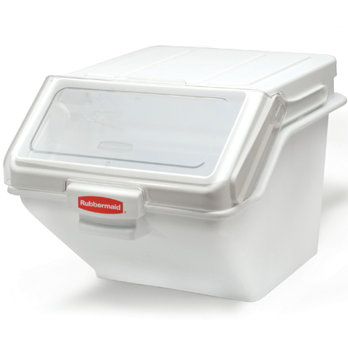 Rubbermaid FG9G5800WHT 200 Cup Safety Ingredient Storage Bin with 2 Cup Scoop FG9G5800WHT