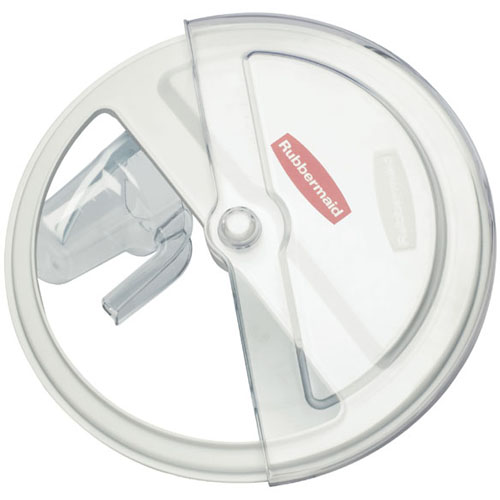 Rubbermaid Prosave Sliding Lid W 4 C Scoop: Fits 2632 Brute Container FG9G7800WHT