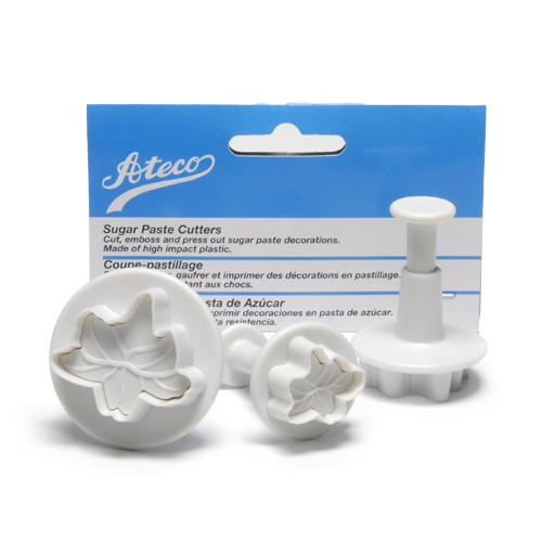 Ateco Plunger Cutters, 3-Piece Set: Lily / Ivy Leaf - 1952