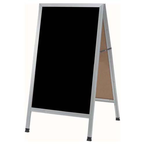 """Aarco A-Frame Black Sidewalk Marker Board w/Aluminum Frame, 24""""W x 42""""H - AA-11"""