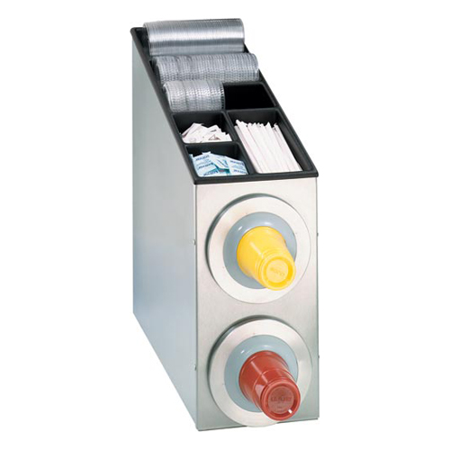 Dispense-Rite BFL-L-2SS Countertop 2-Cup S/S Dispensing Combination Cabinet BFL-L-2SS
