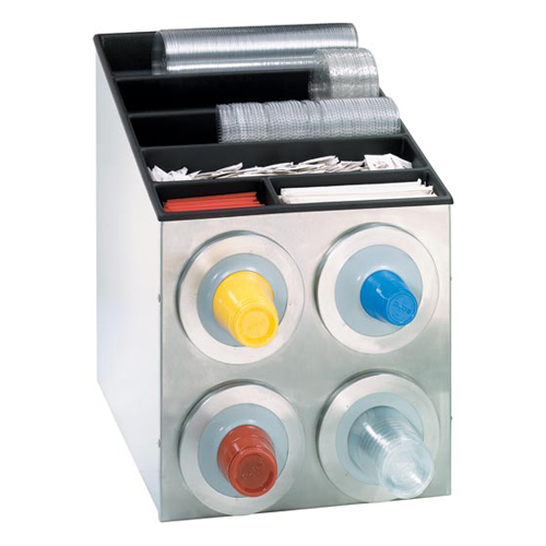 Dispense-Rite BFL-L-2X2SS Countertop 4-Cup S/S Dispensing Combination Cabinet BFL-L-2X2SS