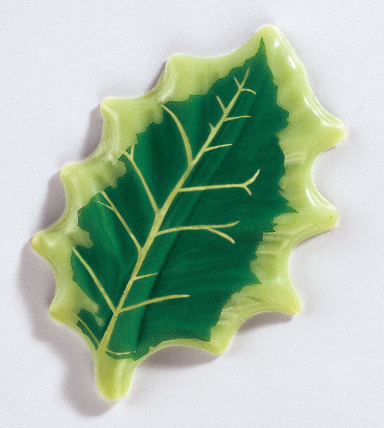 """PCB Chocolate Blister Holly Leaves. 90 Green Leaves, 2"""" long"""
