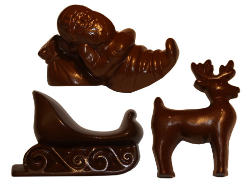 Cabrellon Polycarbonate Chocolate Mold: Santa, Sled and Reindeer, 6 Cavities (2 of Each Shape) at Sears.com