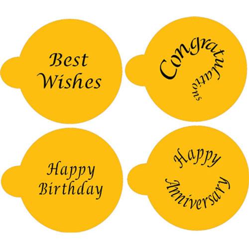 Designer Stencils Special Occasions Cupcake / Cookie Tops C135