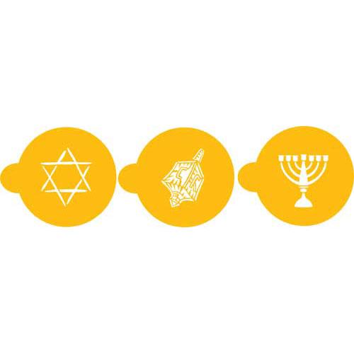 "Designer Stencils Decorating Stencil Jewish Symbols Chanukah Top 3.5"" C183"