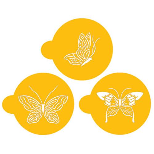 "Designer Stencils Decorating Stencil Butterfly Tops 2"" C195"