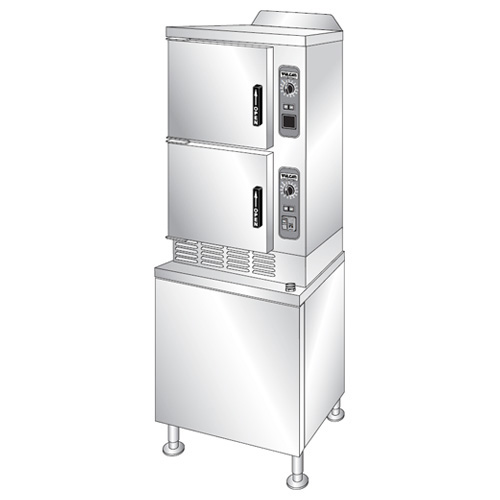 Vulcan Electric Convection Steamer On Cabinet Base Professional Control Pan Capacity Product Photo