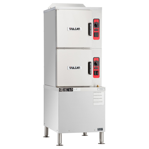 Vulcan Gas Convection Steamer On Cabinet Base Basic Control Pan Capacity Product Photo