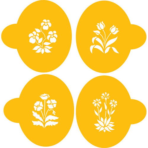 "Designer Stencils Decorating Cookie Stencil, Spring Garden Cookies, Each pattern fits within 3.25"" circle C311"