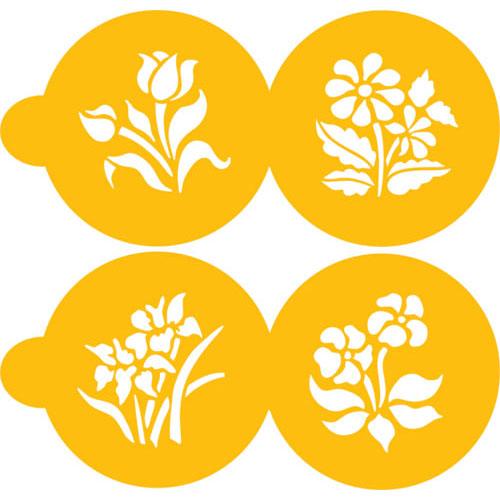 Designer Stencils Decorating Stencil Small Botanical Flowers C352