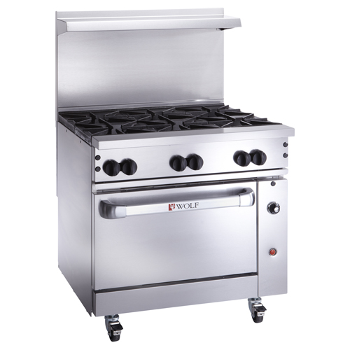 Wolf Challenger Gas Range Open Burners Natural Gas Product Photo