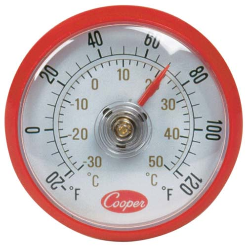 """Cooper Thermometer, Surface / Window Mount, 2"""" Diameter"""