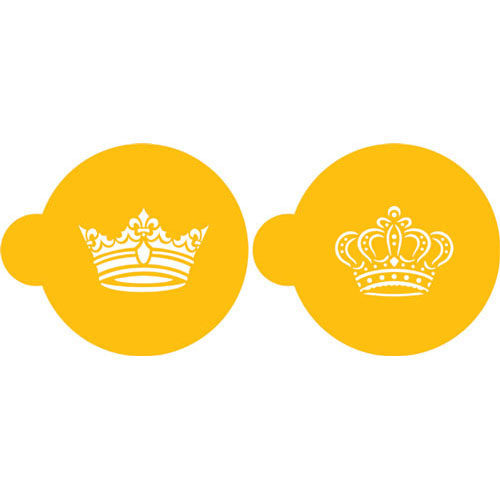 Designer Stencils Royal Crowns Cookie Set C586