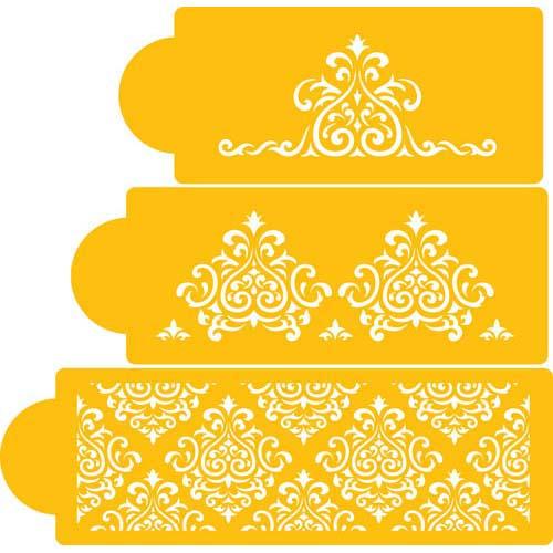Designer Stencils Decorating Cake Stencil, Elaine's Cake Set C591