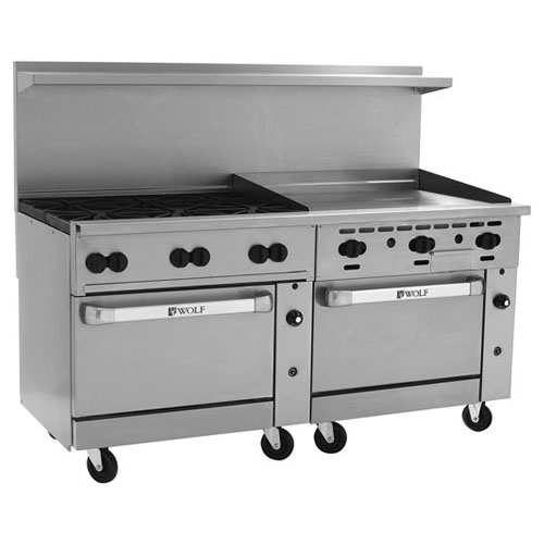 Wolf Challenger Gas Range Burners Griddle Natural Gas Product Photo