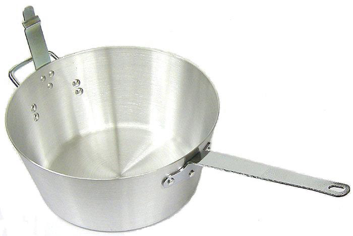"Cooking-Aid Sauce Pan with Hook, 14 Quart, Fits Carlisle 13-1/2"" Fryer Basket # 601003"