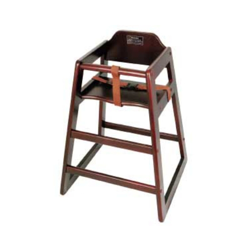 Winware by Winco Assembled Mahogany High Chair