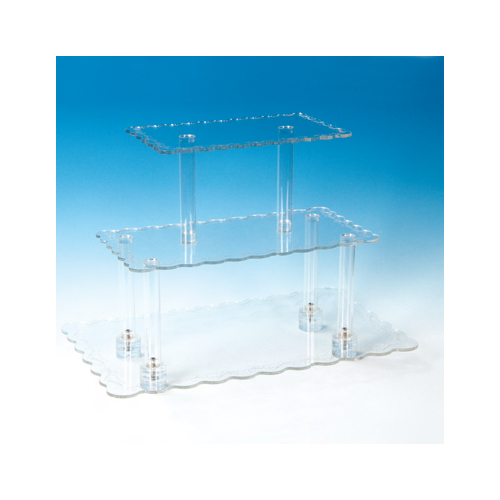 Rectangular Pastry Stand, 3-Tier Acrylic