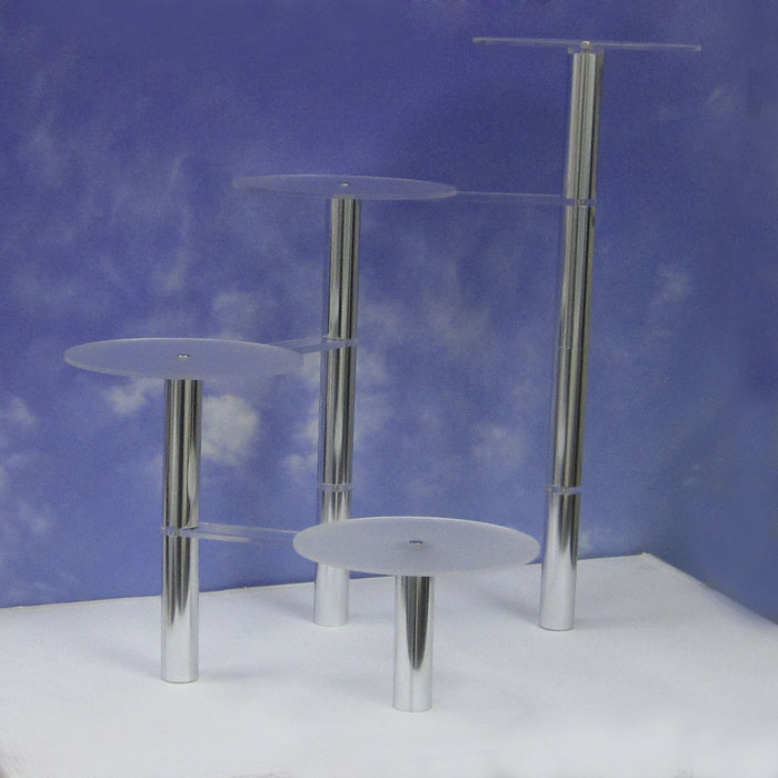 4-Tier Cake Stand, Acrylic and Metal