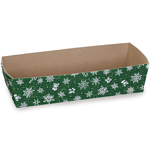 Welcome Home Brands Disposable Snowflake Green Loaf Baking Paper Pan