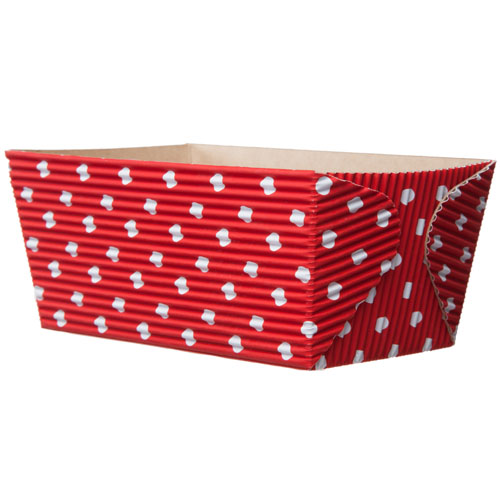 "Welcome Home Brands Red with White Dots Paper Baking Loaf Pan - 15.5 Oz Capacity, 4.5"" x 2.5"" x 2.25"" High"