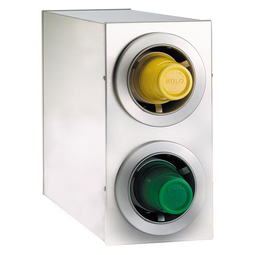 Dispense-Rite CTC-R-2SS Countertop 2-Cup S/S Dispensing Cabinet  CTC-R-2SS