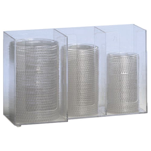 Dispense-Rite CTHL-3 Horiziontal Lid Organizer - 3-Section CTHL-3