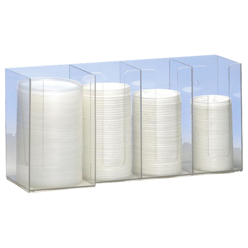 Dispense-Rite CTHL-4 Horiziontal Lid Organizer - 4-Section CTHL-4