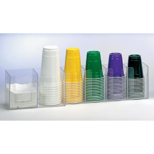 Dispense-Rite CTHL-6 Horiziontal Lid Organizer - 6-Section CTHL-6