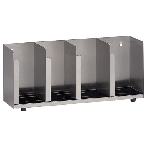 Dispense-Rite CTLD-19 Stainless Steel Cup and Lid Organizer - 4 Section CTLD-19
