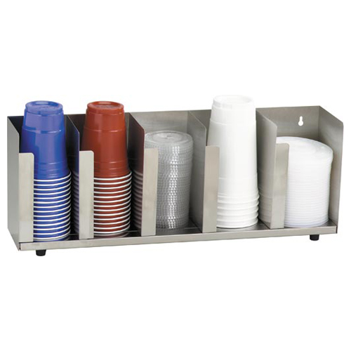 Dispense-Rite-Stainless-Steel-Cup-Lid-Organizer-Section Product Image 5177