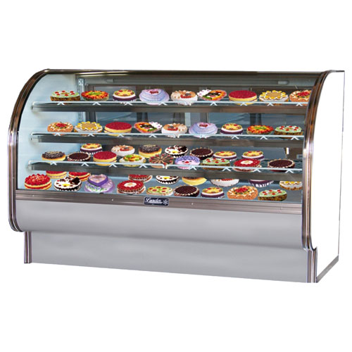 Learn more about Leader Curved Glass Bakery Case Dry Case Product Photo
