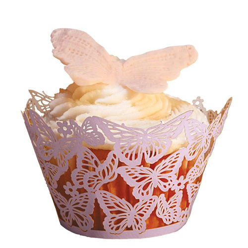 Paper Orchid Cupcake Wrappers - Butterflies Design, Lavender 50 pieces CWR-3128