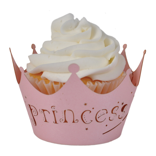 "Paper Orchid Princess (cotton candy) Cupcake Wrappers Bubble Gum, 3-1/4"" round x 2-1/8"" high - 12 pieces CWR-2044"